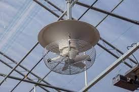 ventilateur brasseur d'air vertical pour serre